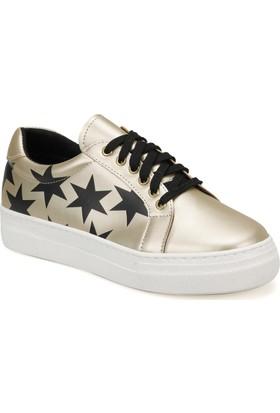 Butigo Star05Y Altın Kadın Sneaker Ayakkabı