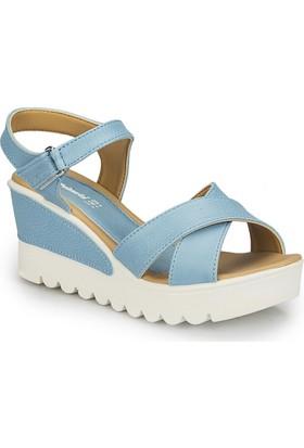 Polaris 81.308569.Z Mavi Kadın Sandalet