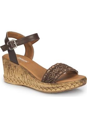 Polaris 81.311310.Z Kahverengi Kadın Sandalet