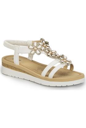 Polaris 81.311474.Z Beyaz Kadın Sandalet