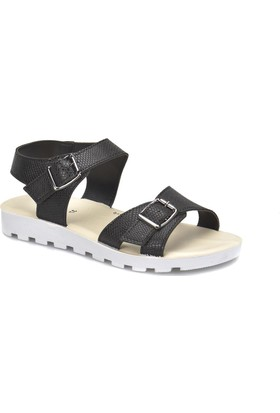 Polaris 81.311703.Z Siyah Kadın Sandalet