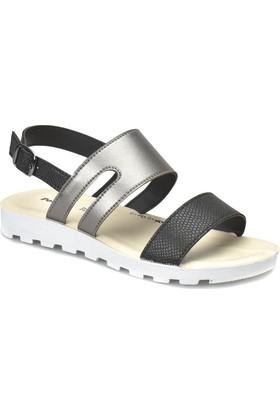 Polaris 81.311704.Z Siyah Kadın Sandalet