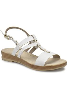 Miss F Ds18088 Beyaz Kadın Sandalet