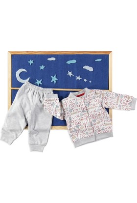 Carmin Baby Araba Pijama Takımı Gri
