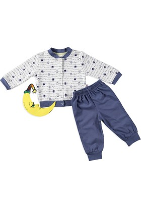 Carmin Baby Baykuş Pijama İndigo