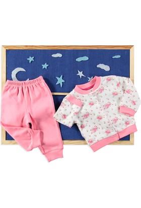 Carmin Baby Çiçekli Pijama Nar Çiçeği