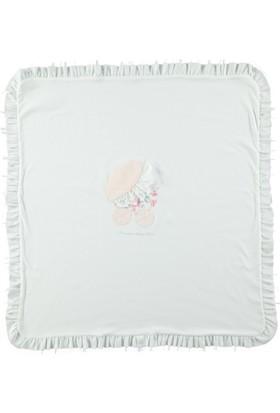 Mymio Dantel Şık Battaniye Pembe 80 x 90 cm