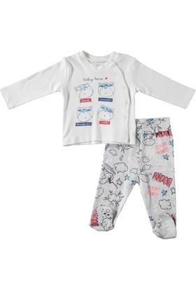 Baby Corner Super Hero Hırka Patikli Tek Alt Takım