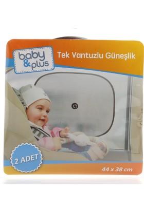Baby&Plus Tek Vantuzlu Güneşlik 2 Adet
