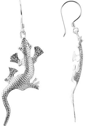 Sanal Kuyumculuk 925 Ayar Gümüş Kertenkele Küpe Bz-10147