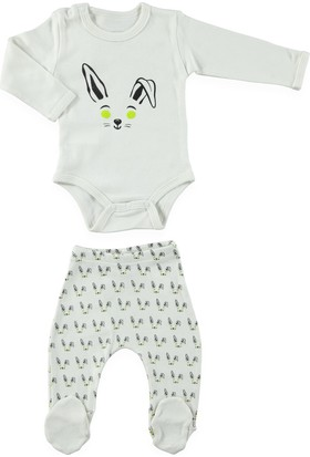 Bluuh Baby Tavşan Body Ekru