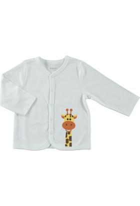 Hellobaby Zürafa Hırka Beyaz