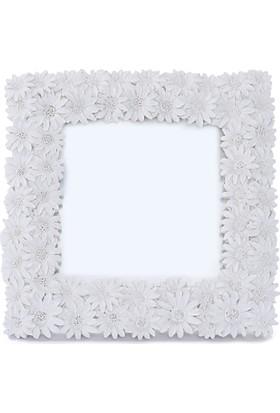 Maison White Decor Papatya temalı çerçeve 8 cm x 8 cm