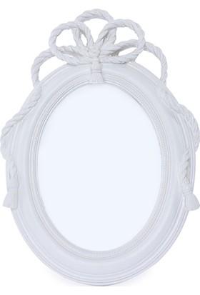 Maison White Decor Halat temalı oval çerçeve 13 cm x 18 cm