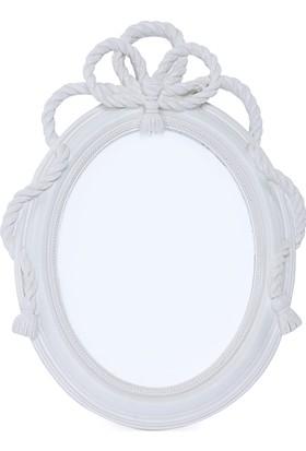 Maison White Decor Halat temalı oval çerçeve 15 cm x 20 cm