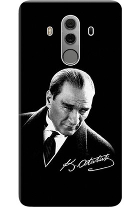 Kılıf Merkezi Huawei Mate 10 Pro Kılıf Silikon Baskılı Mustafa Kemal Atatürk STK:390