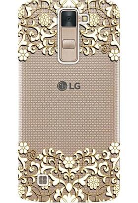 Kılıf Merkezi LG Stylus 2 Kılıf K520 Silikon Baskılı Desen Tasarım STK:333