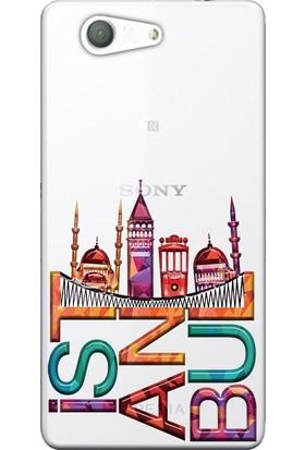 Kılıf Merkezi Sony Xperia Z5 Compact Kılıf E5803 Silikon Baskılı İstanbul STK:338