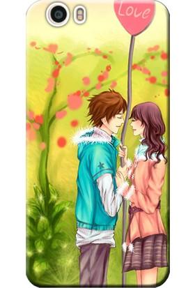 Kılıf Merkezi Vestel Venüs E3 Kılıf Silikon Baskılı Love Anime STK:308