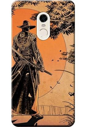 Kılıf Merkezi Xiaomi Redmi 5 Plus Kılıf 5.99 inç Silikon Baskılı Samurai STK:256