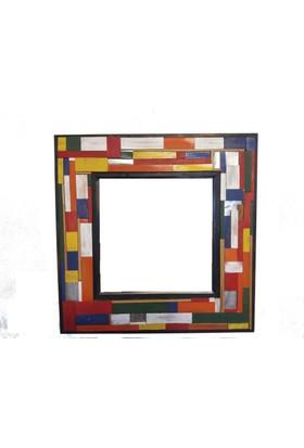 ByBaykuş Renkli Ahşap Ayna