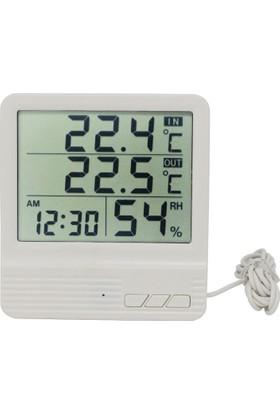 Sekujen Dijital Termometre İç Ve Dış Mekan Elektronik Sıcaklık Ve Nem Ölçer