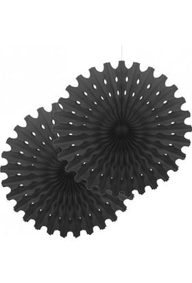 KikaJoy Siyah Yelpaze Kağıt Süs - Kf072