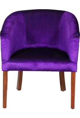 3A Mobilya New Purple Oval Berjer