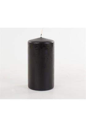 Zigzag Home Siyah Kütük Mum Schwarz 8 x 15 Cm