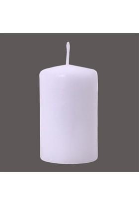 Zigzag Home Beyaz Kütük Mum 10 x 6 cmWhite 02