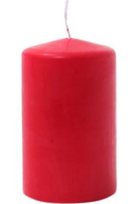Zigzag Home Kırmızı Kütük Mum 10 x 6 Cm Rubın Red 26