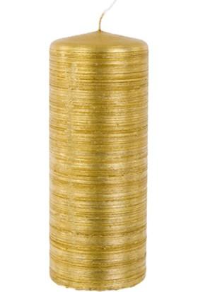 Zigzag Home Gold Kütük Mum 6 x 15 Cm Gold 98 Rustıkana