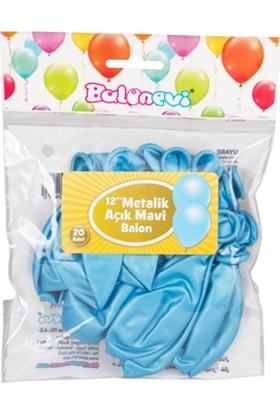 "Zigzag Home Balon ""Metalik Açık Mavi"" 20'Li Paket"