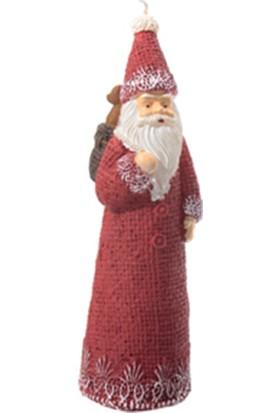 Zigzag Home Dekoratif Mum Noel Baba 19 cm