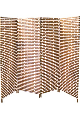 Zigzag Home Dekoratif Paravan 4 Kanat 180 x 200 Cm