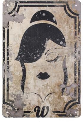Zigzag Home Dekoratif Metal Pano Kadın 20 x 30 x 0,05 Cm