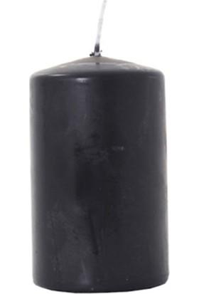 Zigzag Home Siyah Kütük Mum Schwarz 10 x 6 Cm
