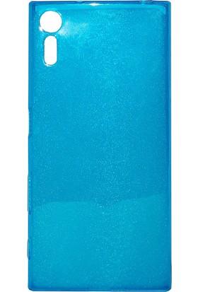 Case 4U Sony Xperia XZ Silikon Kılıf Füme + Cam Ekran Koruyucu