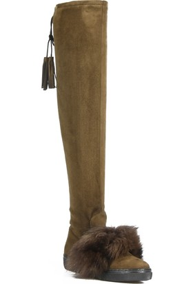Rovigo Haki Kadın Streç Çizme
