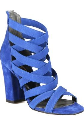 Rovigo Mavi Kadın Topuklu Sandalet