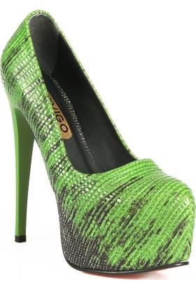 Rovigo Haki-Siyah Kadın Topuklu Ayakkabı