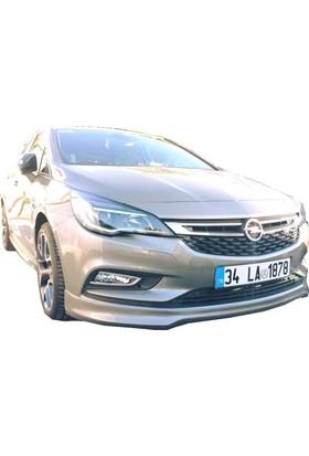 Opel Astra K 2016 Sonrası Ön Tampon Ek (Plastik)