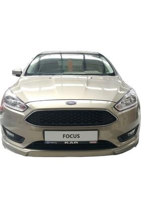 Ford Focus 3 HB 2015 Sonrası Ön Tampon Ek (Plastik)