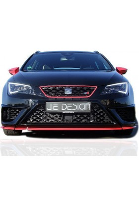 Seat Leon MK3 5F 2013 - 2016 FR - JE Desing Ön Tampon Kaşları (Fiber)