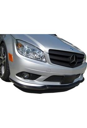 Mercedes C Serisi W204 2009 - 2011 AMG Ön Tampon Ek (Fiber)