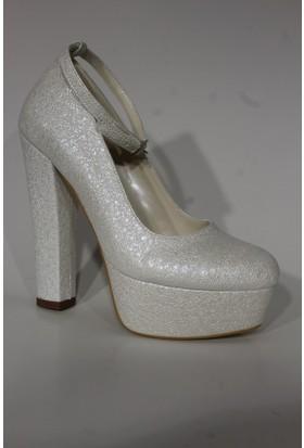 Despina Vandi Tnc Dw286 Abiye Platform Kadın Ayakkabı