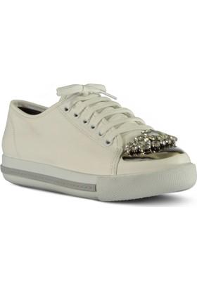 Marjin Kadın Nayi Düz Spor Ayakkabı Beyaz
