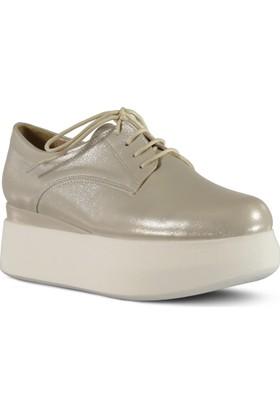 Marjin Kadın Tion Düz Ayakkabı Bej