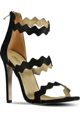 Marjin Kadın Melija Topuklu Ayakkabı Siyah Süet
