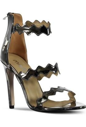 Marjin Kadın Melija Topuklu Ayakkabı Platin Ayna